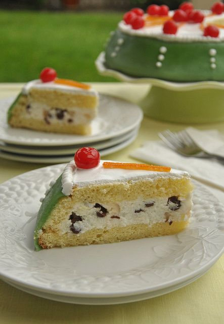 Cassata Siciliana - Sicilian dessert recipe made for Easter when the ricotta is at its peak. Typical Sicilian recipe using fresh sheep's milk ricotta cream.