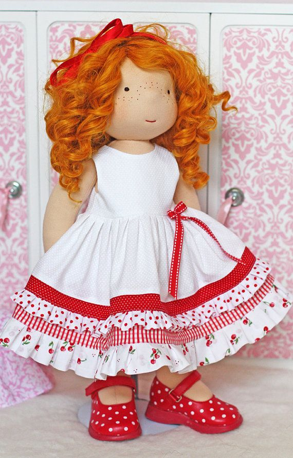 Cherries and Cream dress for 18 inch dolls