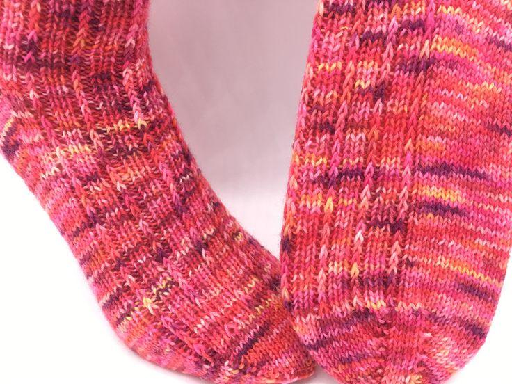 Kuschelsocken - Socken handgestrickt Sockenwolle handgefärbte  - ein Designerstück von crea--team bei DaWanda