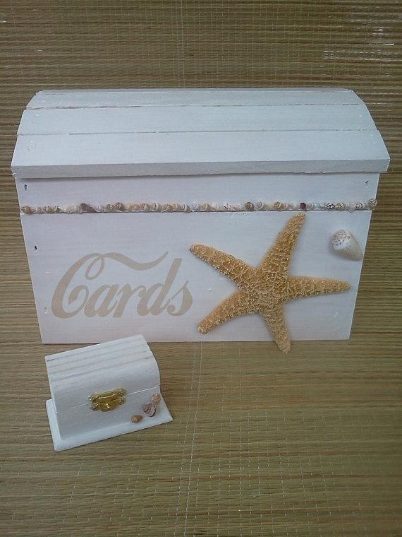 Themed Gift Box Ideas : Beach theme wedding card box beachweddingtreasure