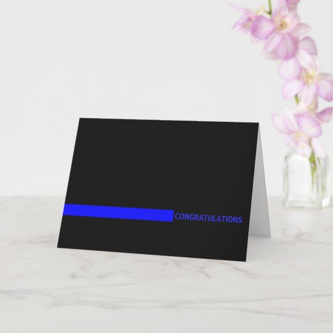 Police Officer Thin Blue Line Card Zazzle Com Thin Blue Lines Business Cards Creative Templates Printing Double Sided