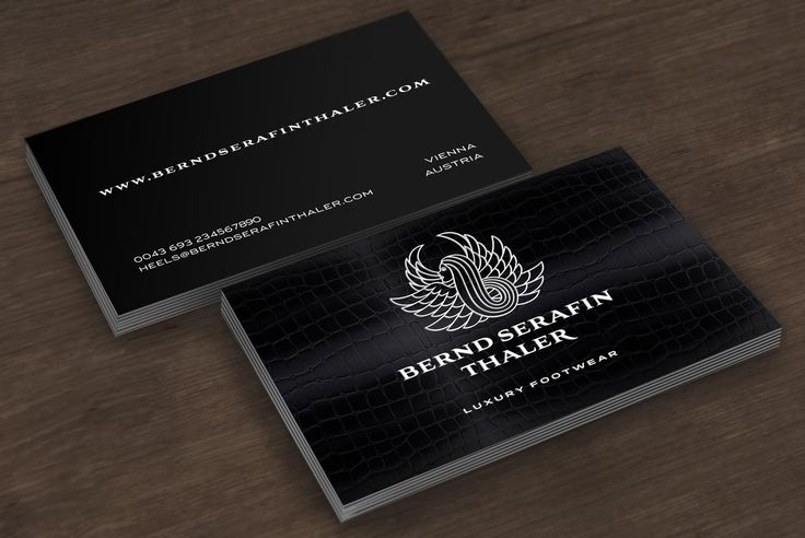 Visitenkarten für Bernd Serafin Thaler
