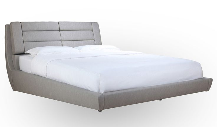 Bold, exciting and completely unique, the Stratos Upholstered Slat Bed delivers something unlike anything else. Featuring a curved frame that is raised at the foot of the bed...