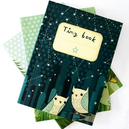 Write it down! Set of three miniature mock-composition notebooks. Available at http://boygirlparty.etsy.com