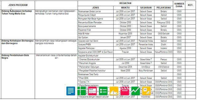 Files Berkas Sekolah: Contoh Program Kerja Osis SMP SMA Tahun 2016 Lengkap Dengan Jadwal Kegiatan Contoh Program Kerja Osis SMP SMA Tahun 2016 Lengkap Dengan Jadwal Kegiatan ini ditujukan bagi siapa saja yang membutuhkan, untuk digunakan sebagai referensi sesuai keperluan Seperti Akreditasi Sekolah untuk di https://goo.gl/QXR90X