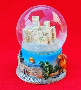 Amazon.com: Snowdome Israel City of Jerusalem Snowglobe Holyland Souvenir.the Walls: Home & Kitchen