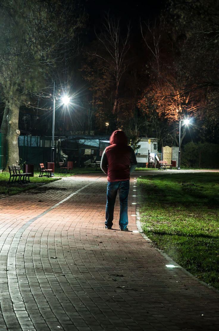 Led Qube oświetlenie parku