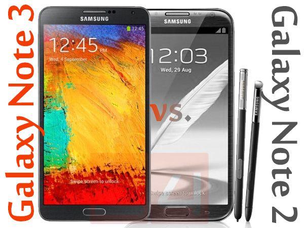 galaxy note 2 note 3 vs vergleich Generationenkonflikt: Samsung Galaxy Note 3 vs. Note 2 touchscreen handys smartphones neue handys handys android amoled display