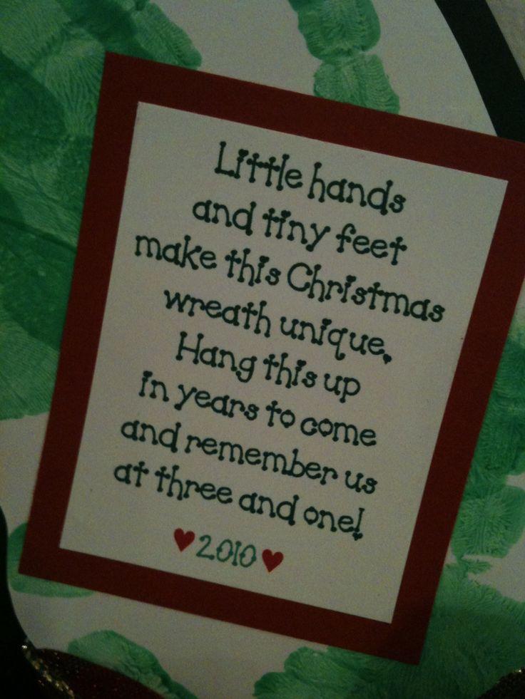 handprint and footprint wreath poem