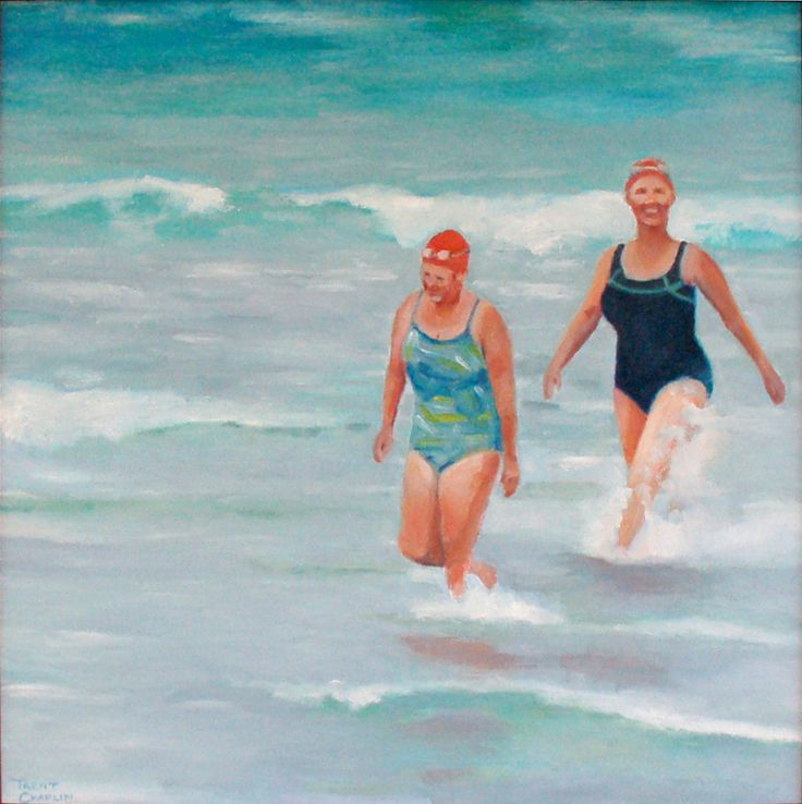 'On the coldest day of summer' by Trent Chaplin. Oil on board.