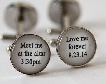 14 Fun & Sweet Wedding Cuff Link Ideas for Groom, Dad & Groomsmen| Wedding Blog | Confetti Daydreams