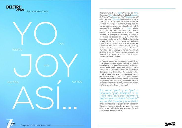 Segunda edición de #ElZarzoRevista sección #Deletreando