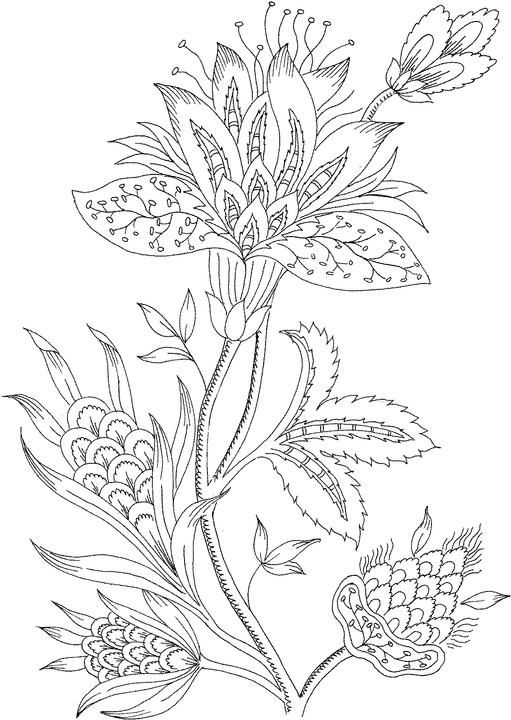 flower coloring page - Colouring Pages For Adults Online Free
