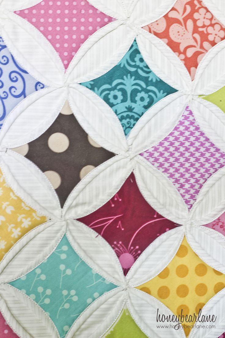 cathedral window quilt: heerlijk om te quilten. Zoveel mooie stofjes en ontwerpen.