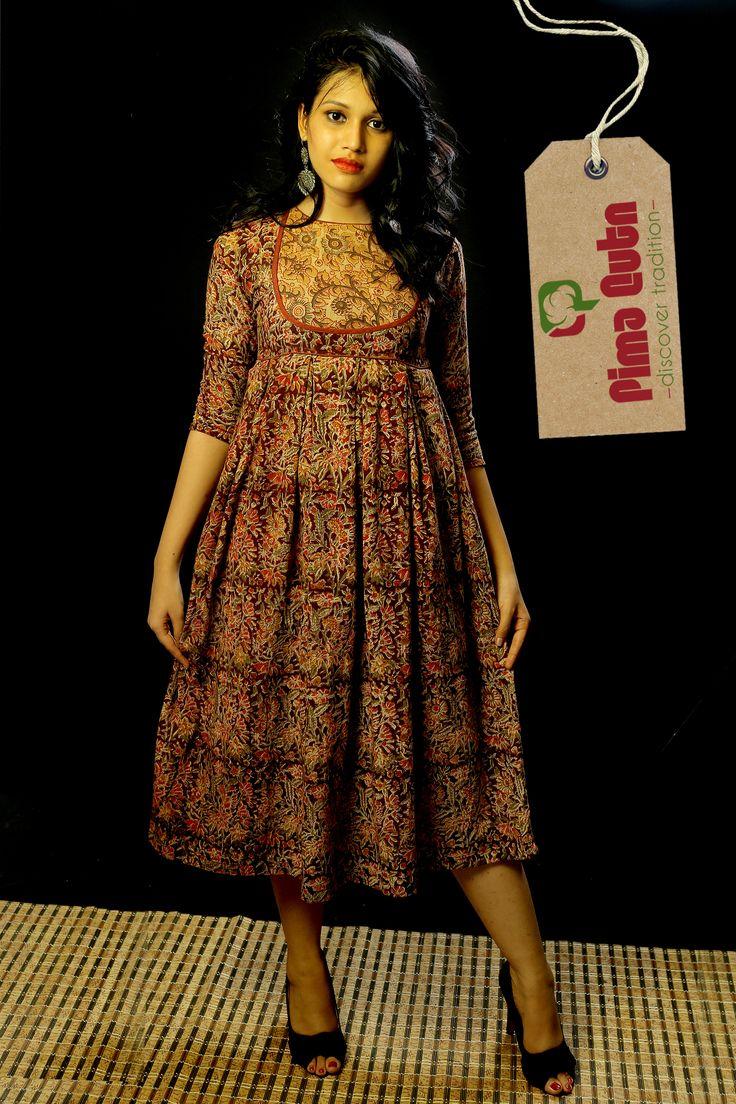Khadi Kalamkari Dress