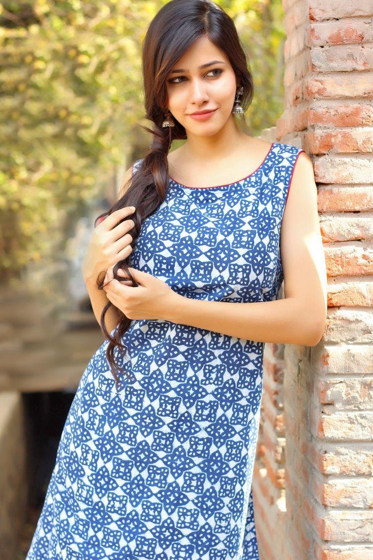 #indigo #summer #happy #cotton #casual #print #kurta #women #fashion #Fabindia