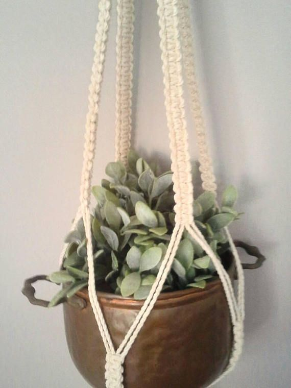 Macrame plant hanger by FisherKing /www.etsy.com/au/listing/549331373/crown-loop-macrame-hanger-3mm-cotton