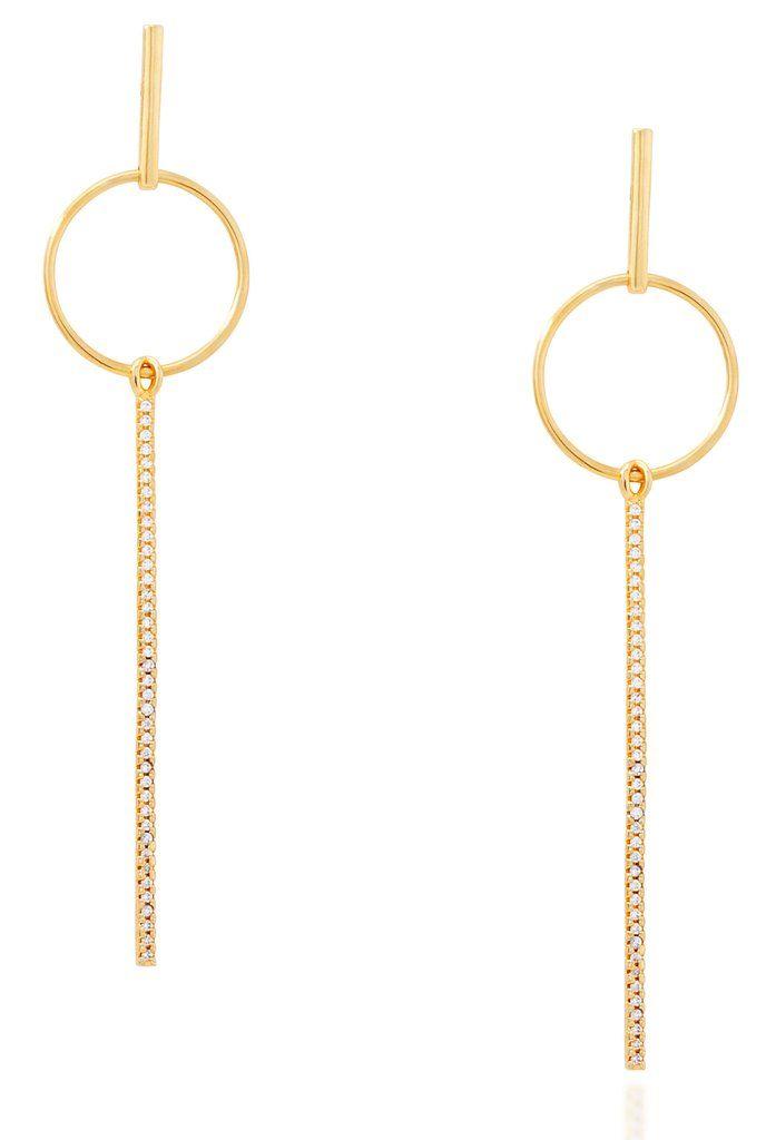 Link bar gold vermeil earrings