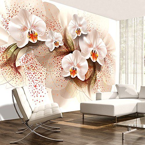papier peint intiss 400x280 cm top vente papier peint tableaux muraux xxl fleurs orchid e. Black Bedroom Furniture Sets. Home Design Ideas