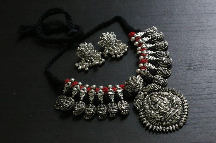 Lakshmi Motif Temple necklace  I am jewellery artists call me 9910916014