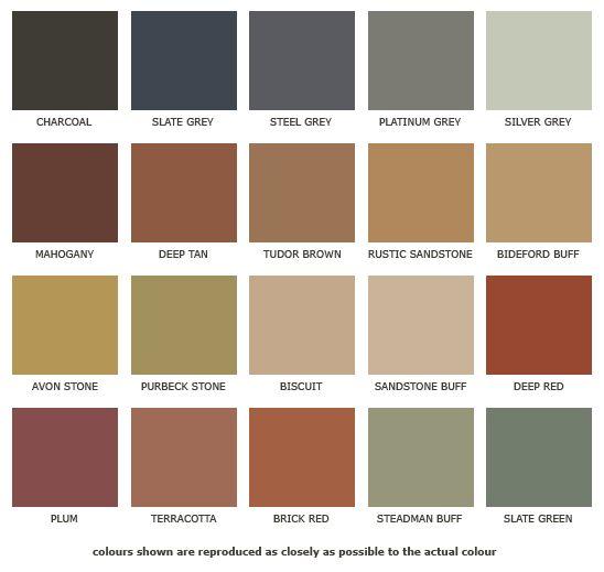 Terra Cotta Color Chart