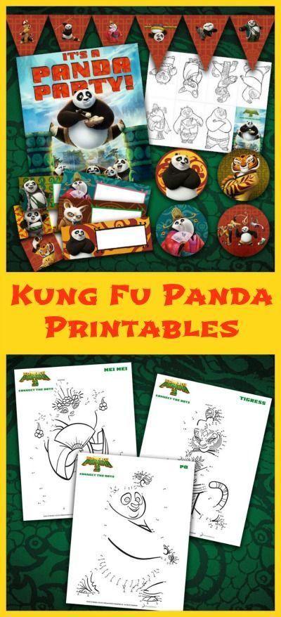 Kung Fu Panda 3 Printables - Print these fun Kung Fu Panda party printables, activity sheets and more!