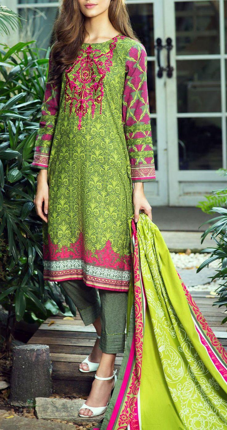 Buy Green/Magenta Embroidered Karandi Salwar Kameez (2pc) by Bonanza 2015 Email: Info@PakRobe.com www.pakrobe.com https://www.pakrobe.com/Women/Clothing/Buy-Winter-Salwar-Kameez-Online #Winter_Salwar_kameez