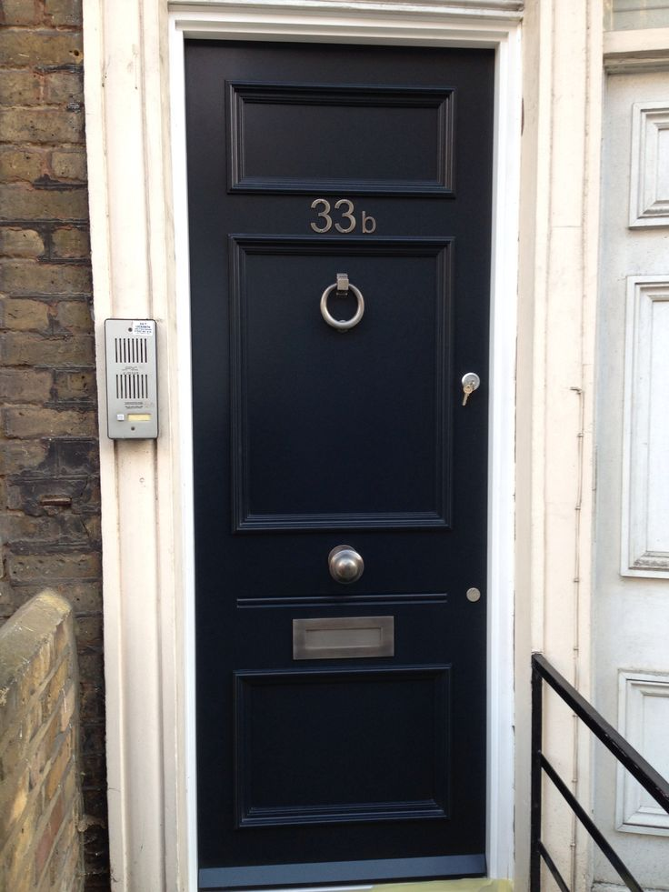 Captivating This 3 Panel Georgian Front Door Finished In Fu0026B Blue Black, Was Fitted To A
