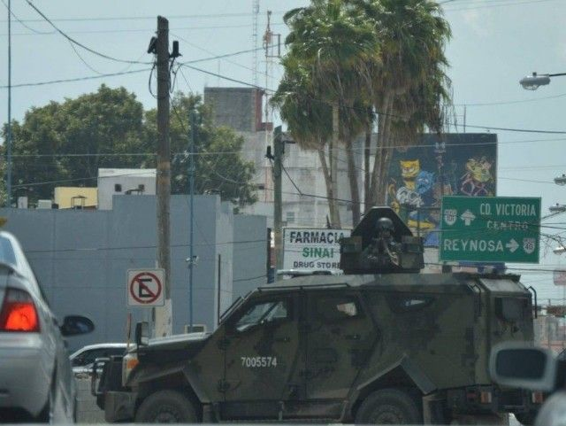 MATAMOROS, Tamaulipas -- A massive show of force by Mexican authorities took place Friday as a result of the capture of Angel Eduardo Prado Rodriguez also known as Orejon or Ciclon 7--the leader of the Gulf Cartel in this border city.
