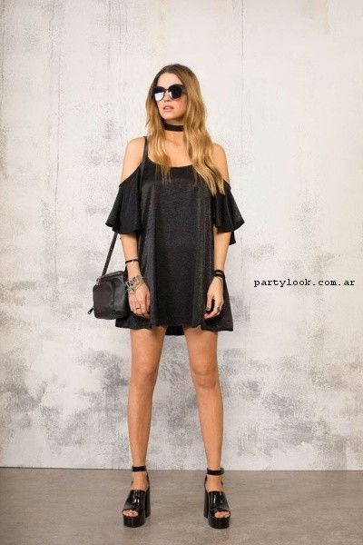 vestido corto de seda 47 street primavera verano 2017  379c65957ecc