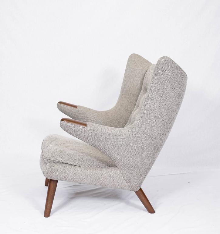 "Hans Wegner ""Papa Bear"" Chair and Footstool 5"
