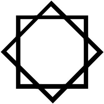 "The ancient ""Seal of Melchizedek"" is often represented as an 8-point star composed of two squares offset 45 degrees and overlaid (or interwoven)."