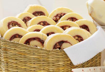 Recette spirales aux framboises et aux noix #recette #cuisine