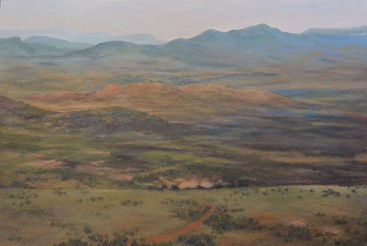 LOOTSBERG PASS by Zelda Alistoun paintings  Oil on canvas 900x600mm