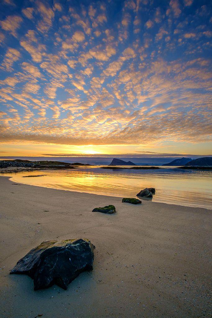 "etherealvistas: ""Night at the beach (Norway) by John A.Hemmingsen """