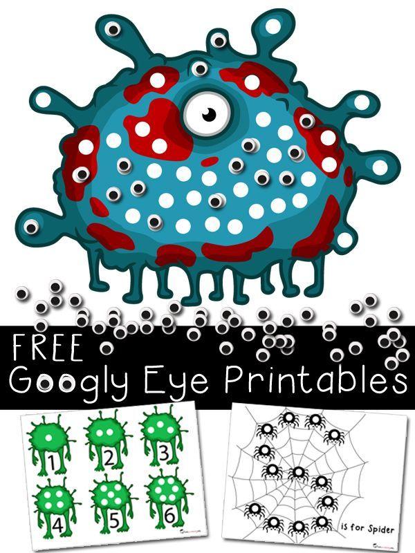 halloween activities printables with googly eyes - Free Preschool Halloween Printables
