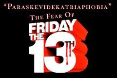 Article about #Paraskavedekatriaphobia (fear of Friday the 13th)