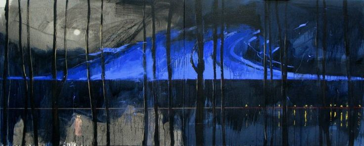 Kristiansand (N) born and based Kjell Nupen (September 5, 1955 – March 12, 2014). Painting, title unknown to me.