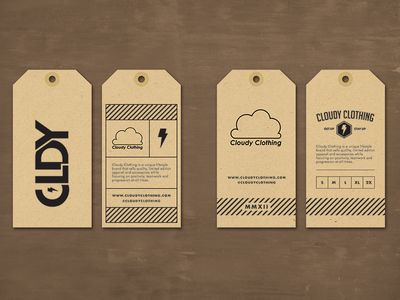 Cloudy Clothing   Hang Tag