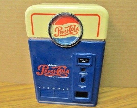 Vintage 1996 ~ Pepsi-Cola / Soda Vending Machine Replica Coin Sorter Bank Pepsi in Collectibles, Advertising, Soda | eBay!
