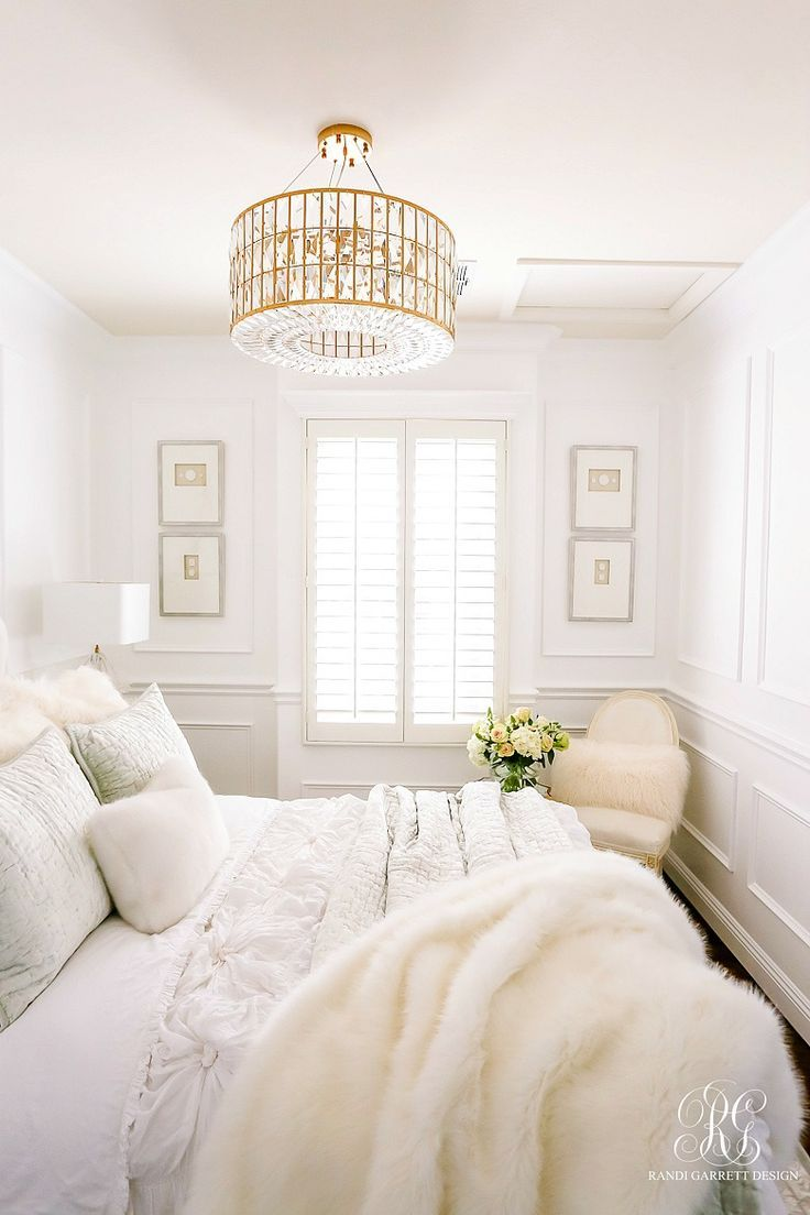 glam #guest #bedroom # – #white #walls # – #wa…