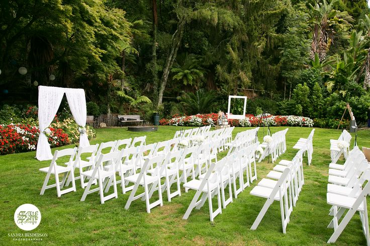 Garden wedding on the Fred Parker Lawn. Styled by VS Events