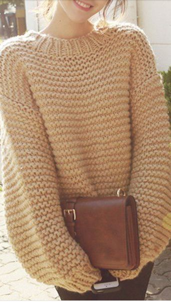 chunky knit sweater by margarett