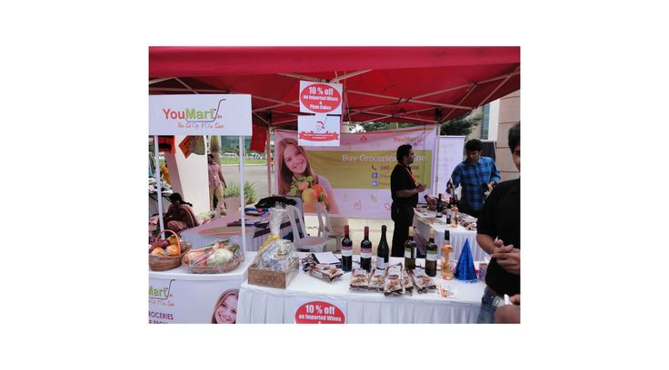 Apart from fruits and vegetables, YouMart also displayed wine, baby care, personal care, organic and imported products during the 'Christmas Carnival' event held at Manyata Tech Park in Bengaluru.