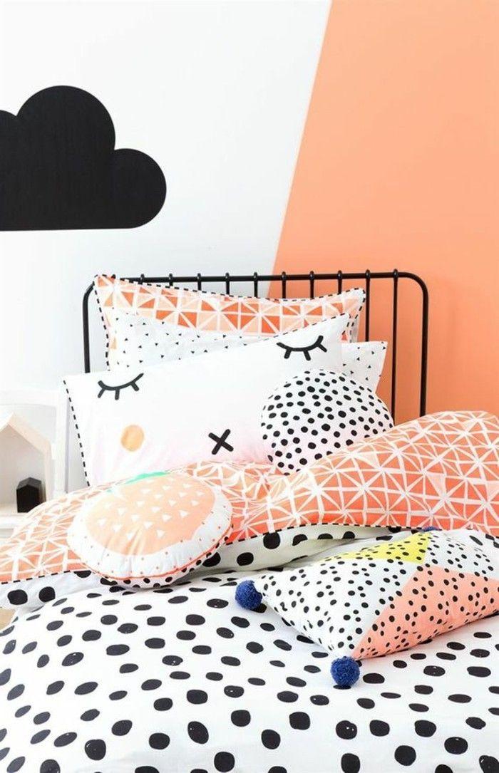 nos astuces en photos pour peindre une pi ce en deux couleurs chez moi pinterest chambre. Black Bedroom Furniture Sets. Home Design Ideas