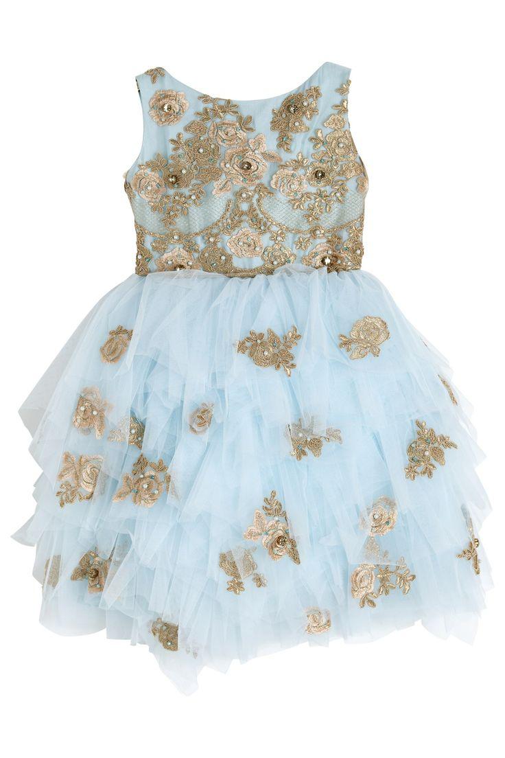 Luxury dress with voluminous tulle skirt