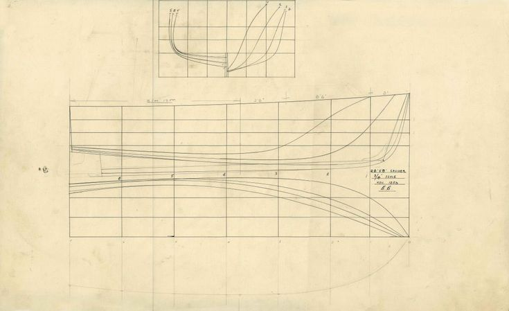 Lines plan of a 26 foot motor cruiser | Results | Search Objects | The Collection | Australian National Maritime Museum