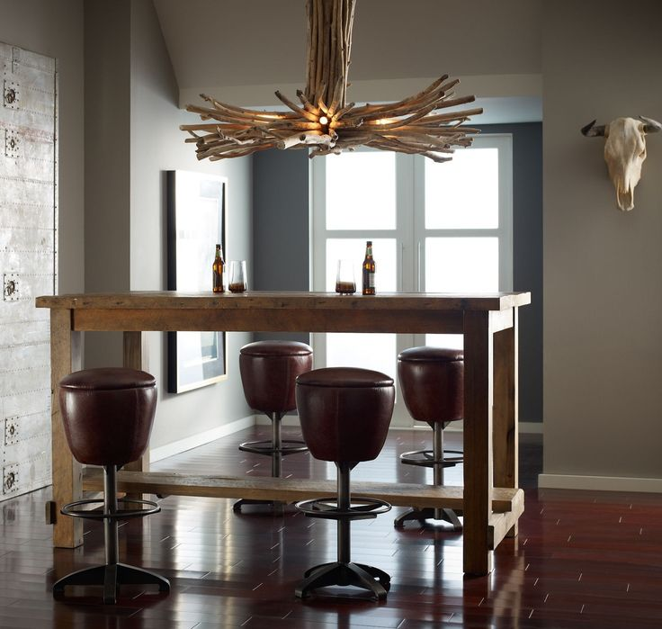 Cecil Farmhouse Reclaimed Wood Counter Dining Table Http Www Zinhome