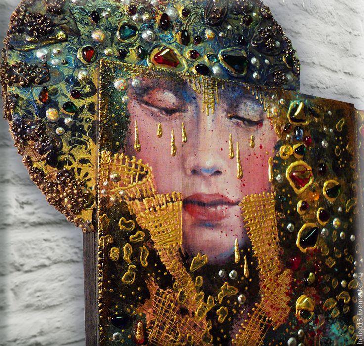 """Купить Декоративное панно """"Сны....."""" по мотивам работ Angela Betta Casale... - декоративное панно"""