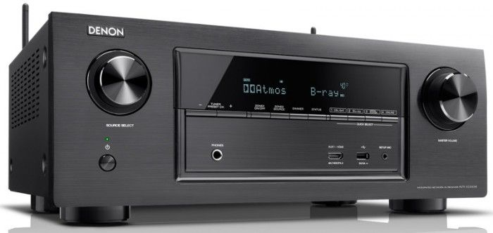 The Denon AVR-X2300W AV receiver features 7.2 channel amplification with 150W per channel as well as built in WiFi, Bluetooth and 4K Ultra HD.